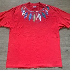 Vintage Colorado Feather Shirt Beefy Hanes USA XL